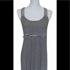 EUC Calvin Klein casual black & white maxi dress